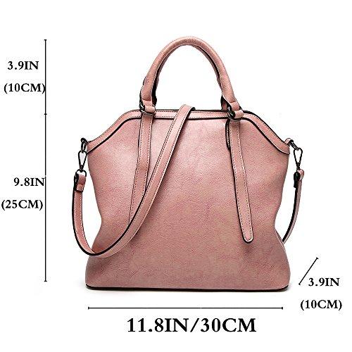 Purse Handle Pink Satchel Handbag All Tote match Bag Women Bag Shoulder FiveloveTwo wqHFZxBYZ