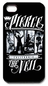 CreateDesigned Pierce the Veil Rock Band Snap on Case Cover for Apple Iphone 4/4s TPU Case I4CD00552