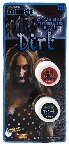 Forum Novelties Zombie Dirt Makeup Pots