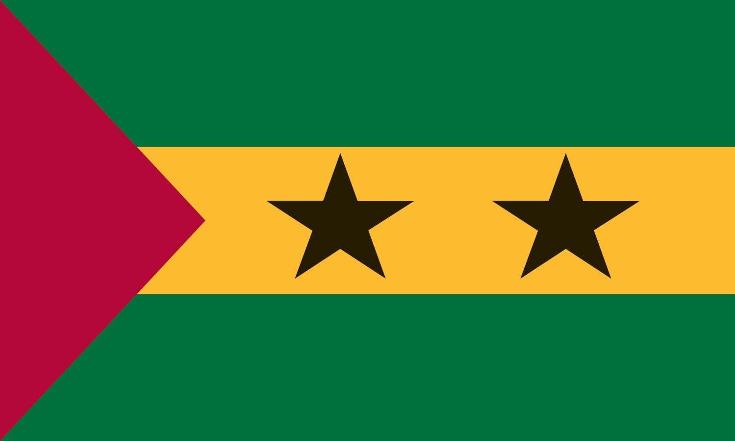 Valley Forge Flag 23224220 Perma-NYL Sao Tome and Principle Flag, Nylon, 2'x3', 4' x 6'