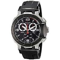 Tissot Men's T0484172705700 T-Race Black Chronograph Dial Watch