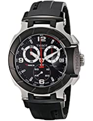 Tissot Mens T0484172705700 T-Race Black Chronograph Dial Watch