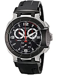 Men's T0484172705700 T-Race Black Chronograph Dial Watch