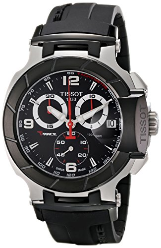 Black Dial Automatic Chronograph Watch - Tissot Men's T0484172705700 T-Race Black Chronograph Dial Watch