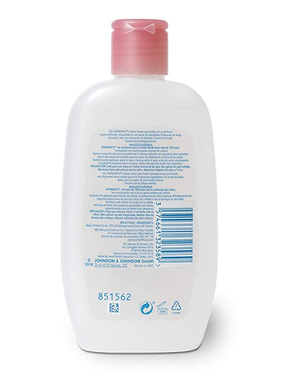 Johnsons Baby - Colonia Suave para Bebé, Floral - 12 Recipientes de 200 ml - [Total: 2400 ml]: Amazon.es: Salud y cuidado personal