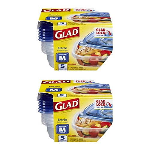 Glad 25 Ounce Medium Entree Food Storage Containers with