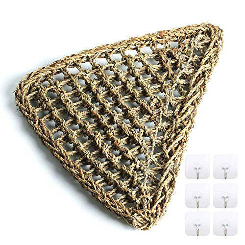 Wuhostam Reptile Hammock Lizard Lounger, 100% Natural Seagrass Fibers for  Anoles, Bearded Dragons, Geckos, Iguanas, and Hermit Crabs Triangular with  6