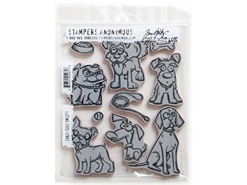 Stampers Anonymous Dritz Notions SPATHCMS.271 StampersA Cling Stamp THoltz Crazy Dogs by Stampers Anonymous