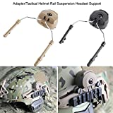 1Pair Tactical Helmet,Headset Support ARC Rail