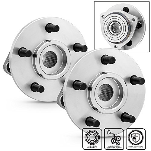 Jeep Grand Cherokee / Wrangler / Comanche / Wagoneer 513084 Pair of 5-Bolt Rear Wheel Hub and Bearing Assembly W/O ABS (Flange Hub Rear Wheel)