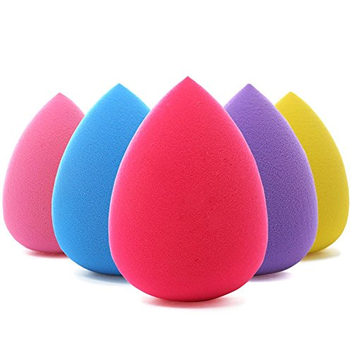BEAKEY 5 Pieces Makeup Blender Sponge set, Foundation Blendi
