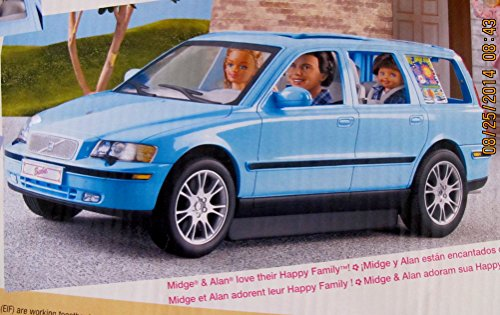 BARBIE Happy Family VOLVO V70 Vehicle VAN SUV w CAR SEAT w 3 SOUNDS, Open/Close BACK HATCH ...
