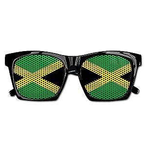 Ysm&Gaz Flag Of Jamaica Unisex Polarized Party Sunglasses Resin Frame Eyewear Favor Mesh Lens Sun Glasses