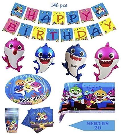 Amazon.com: SHARK suministros de fiesta para bebés y niños ...