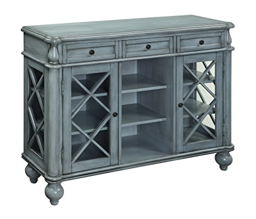 Treasure Trove 17242 Three Drawer Two Door Credenza, Blue
