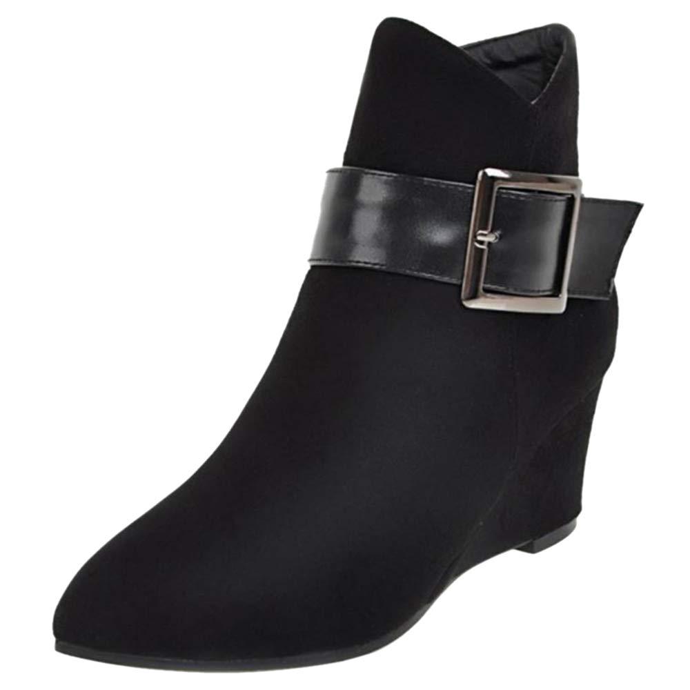 TAOFFEN Chaussures Chaussures Femme B009JRQNCE Bottines Mode Mode Compensé Noir 5ea01d2 - piero.space