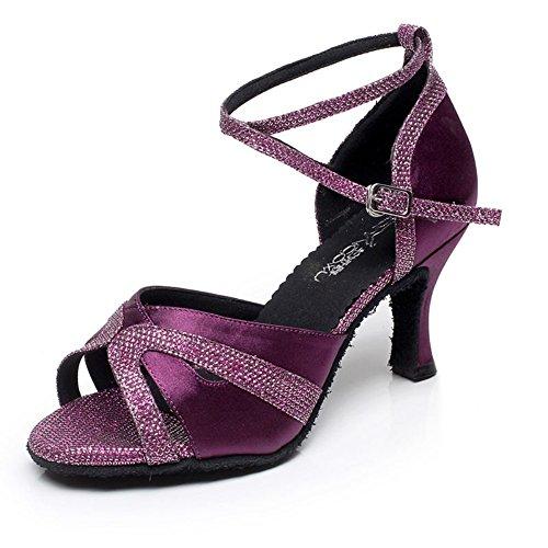 Latines Chaussures De Femmes Danse Violet Tmkoo vIYPwx