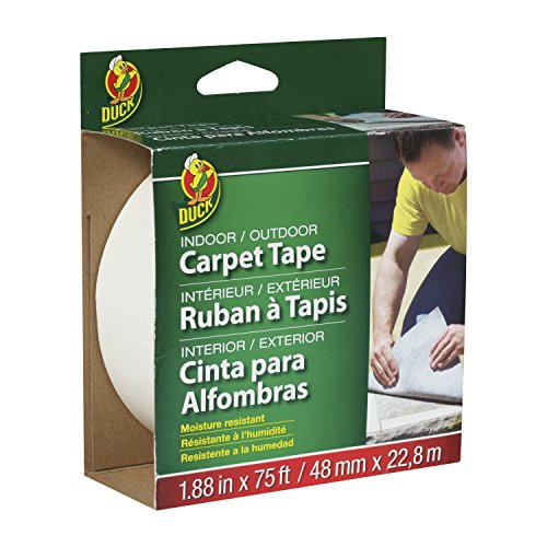 Duck Brand 442062 Indoor/Outdoor Carpet Tape, 1.88-Inch x 75 Feet, Single Roll