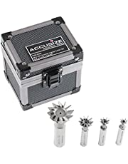Accusize Industrial Tools 4 pc 60 Degree H.S.S. Dovetail Angular Cutters, Right Hand Weldon Shank, 4400-6206