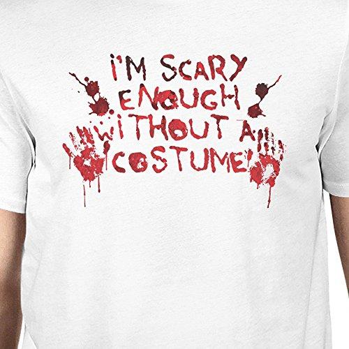 manos con solo corta Camiseta con sangrientas hombre un manga un con hombro 365 Printing de para traje blanco xqHFFa