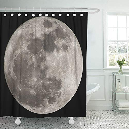 Acrylic Tub Eclipse (Emvency Shower Curtain 72x72 inch Home Postcard Decor Print Planet Super Full Moon Apollo Astrology Astronaut Astronomy Black Bright Celestial Shower Hook Set are Included)