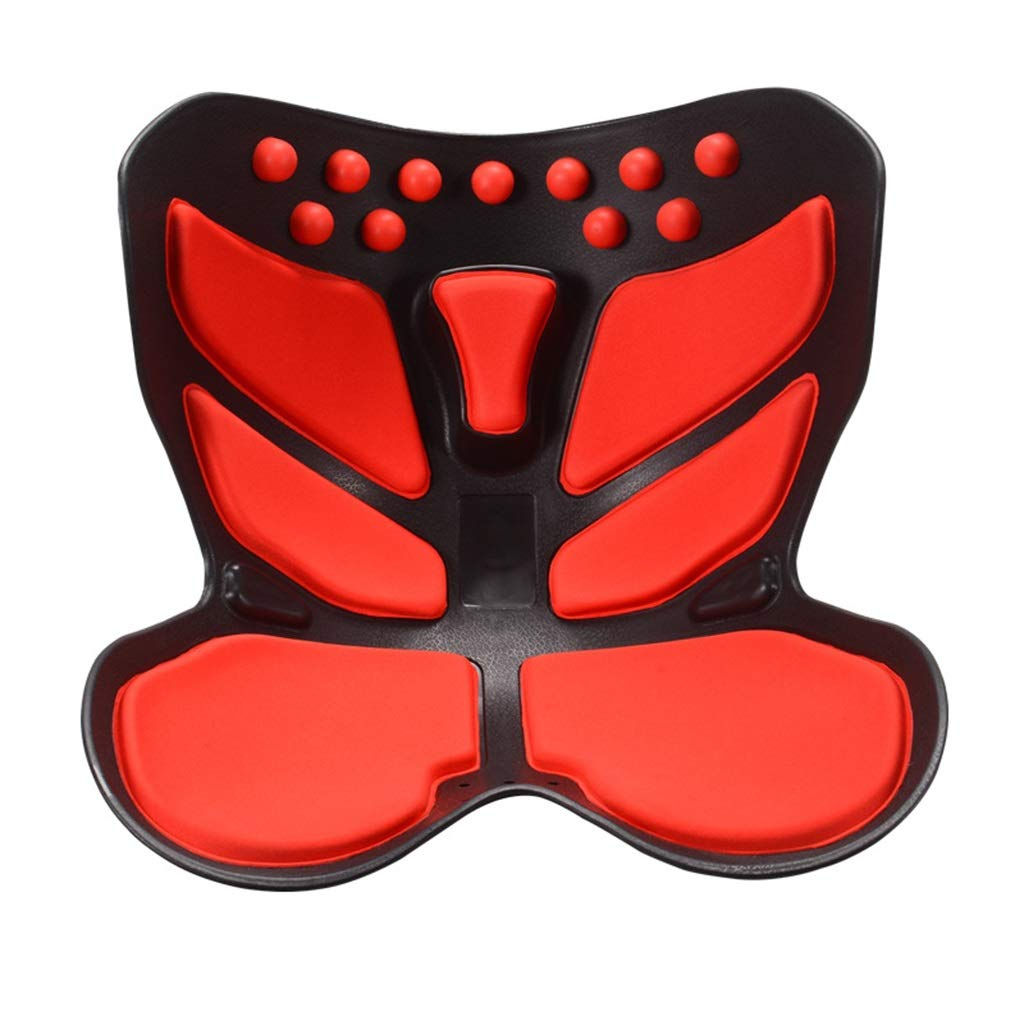 Cushion, Waist Protector, Hip Cushion, Orthosis, Sitting Posture, Pregnant Woman, Artifact, Decompression Office (color : Red)