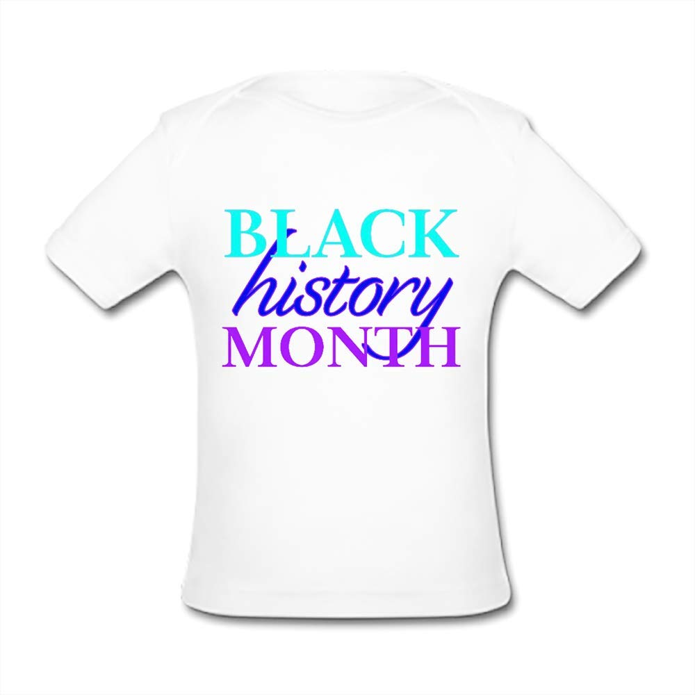 UlanLi Infant Tee Black History Month Baby Organic Short Sleeve T-Shirt White