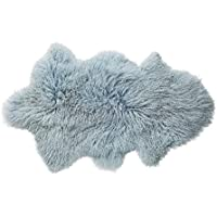 Bloomingville Mongolian Lamb Fur Rug, Blue