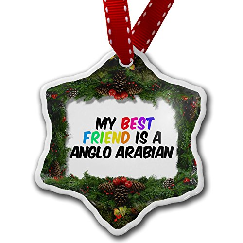 Christmas Ornament My best Friend a Anglo-Arabian, Horse - Neonblond by NEONBLOND