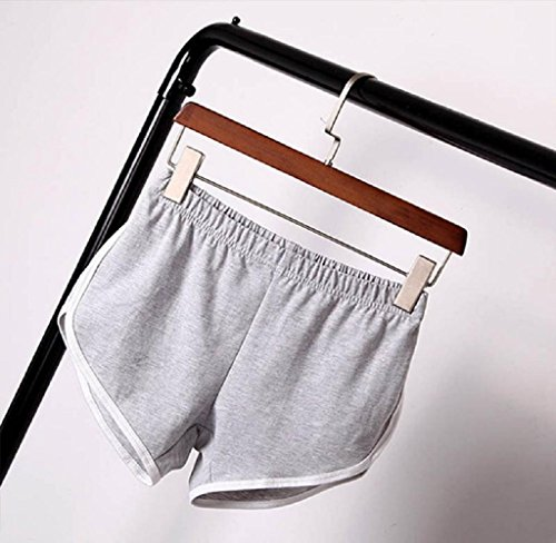 Allenarsi Donne Pantaloncini Pantaloncini Mecohe Hot Regolabile Pants Yoga Nuovo Sportivi Cintura Palestra Magro Estate Grigio Pantaloni Agg0xpFq