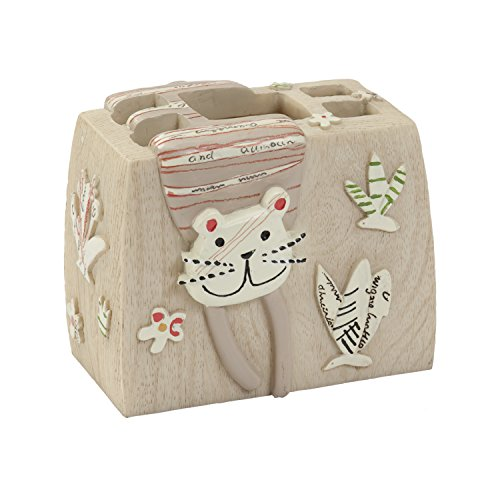 Cat Toothbrush Holder - Creative Bath Products Animal Crackers Toothbrush Holder