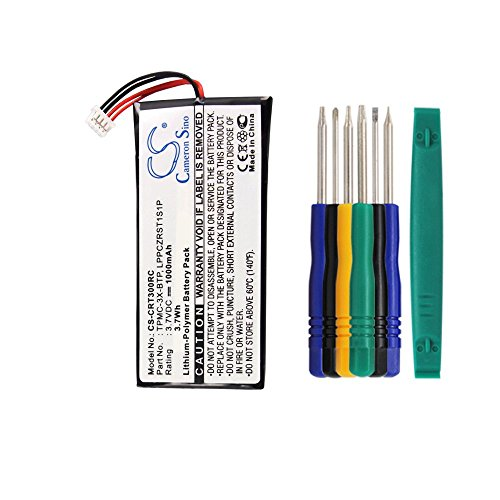 Cameron sino 1000mAh Li-Polymer Replacement TPMC-3X-BTP LPPCZRST1S1P Battery For Crestron TPMC-3X Touchpanel MTX-3 Prodigy PTX3 TPMC-3X-L