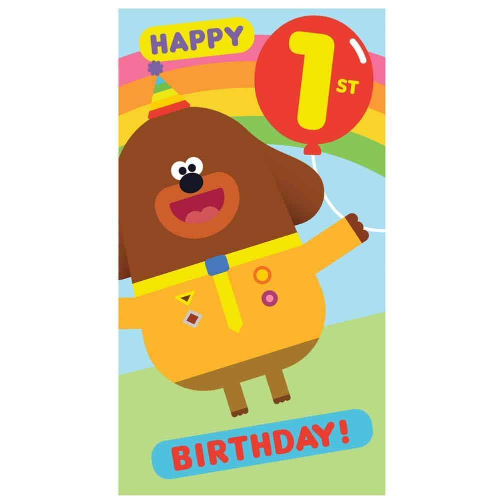 Hey Duggee Age 1 1st Birthday Card