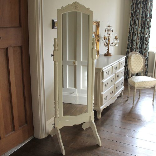 Melody Maison Cream Cheval Full Length Mirror - Belfort Range