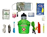 $averPak Single - Seychelle 42oz Survivor Canteen and Green Insulator Sling with the EXTREME Filter and 12 Other Survival Essentials