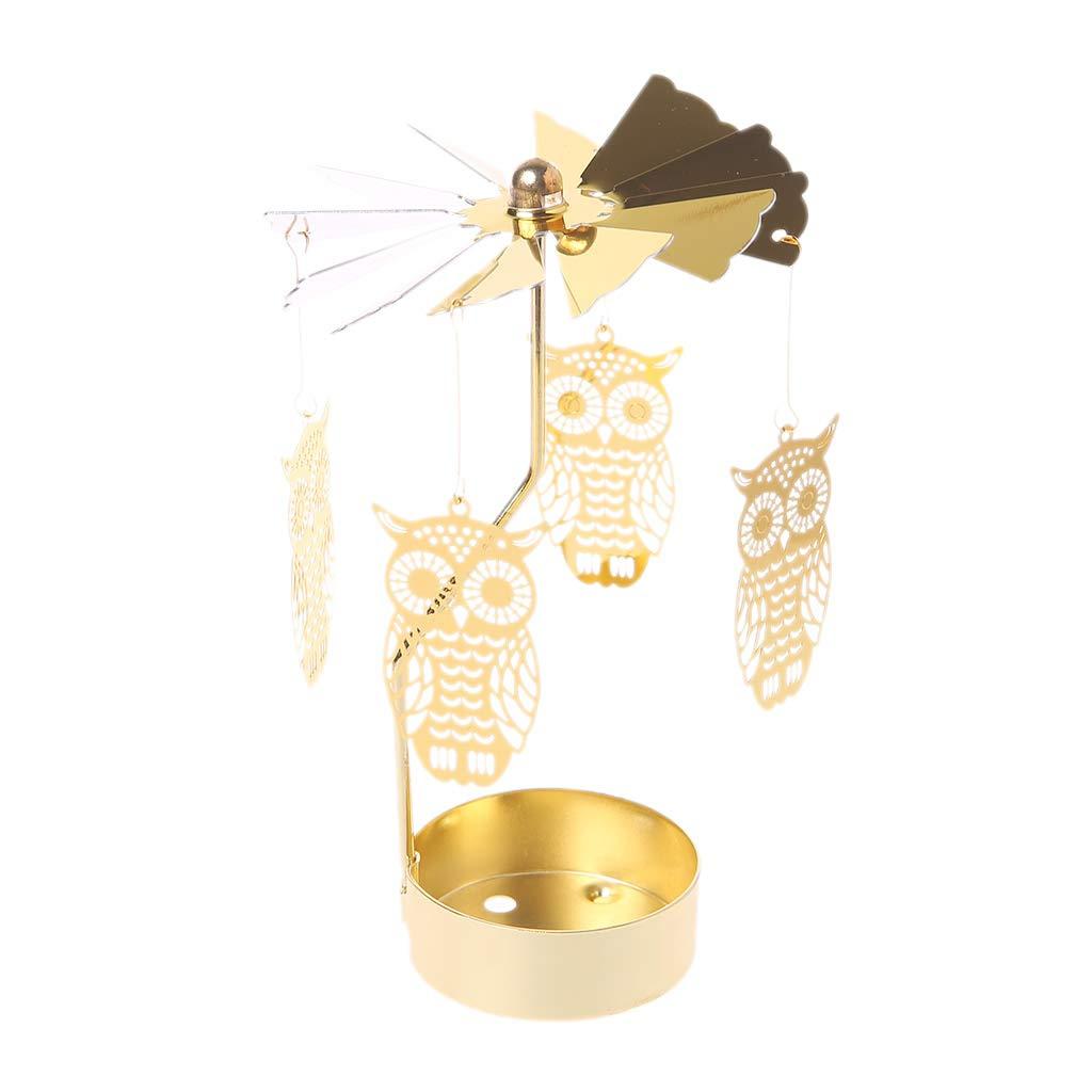 GROOMY Chandelier Spinning Rotary Carousel Tea Light Stand Lumière Cadeau De Mariage Décor À La Maison Ornement Cadeaux - Rose