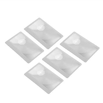 3 X Lupe Vergrößerung Vergrößerungs Fresnel Tasche Kreditkarte Größe Transparent Lupe Kalender, Planer Und Karten