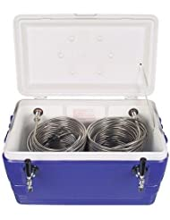 Micro Matic CB482B Blue 2 Faucet 48 Qt Insulated Jockey Box With 100 Ft Coils