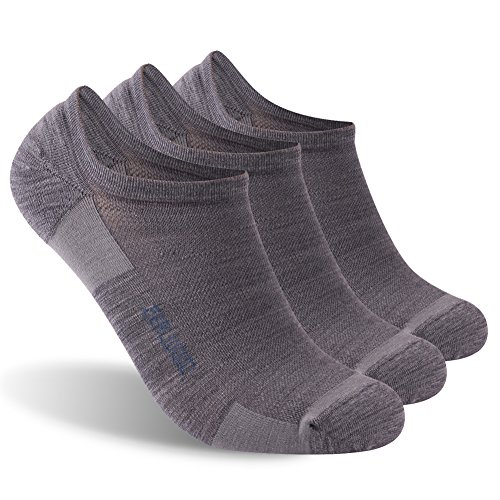 Low Cut Cycling Socks, ZEALWOOD Breathable Sport Socks for Men and Women,3 Pair-Grey by ZEALWOOD (Image #1)