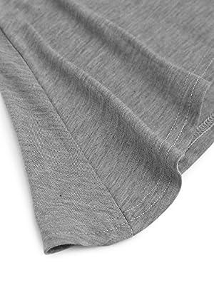 ROMWE Women's short sleeve Casual Loose Tunic T-Shirt Dress