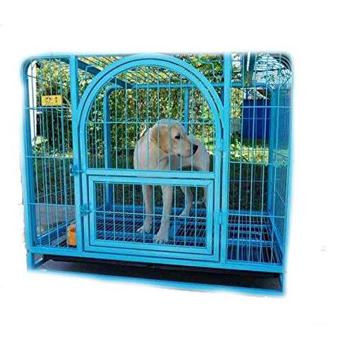 ペット犬ケージ,折り畳み式の金属製犬クレート 大型犬ゴールデン箱 背の高い犬ベビー サークル ペットの単一のドアのホーム トレーニング箱 屋内 屋外テント フェンス-青 96x65x82cm(38x26x32inch) B07CVSKZBK 96x65x82cm(38x26x32inch)|青