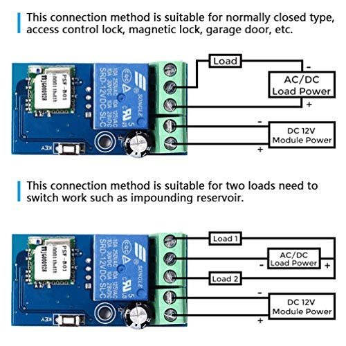 WHDTS ESP8266 WiFi Relay Delay Switch Module DC 6V-36V Momentary Inching /& Self-Locking IoT Wireless Intelligent Control Device Smart Home Remote Control Compatible with iOS Andriod 2G//3G//4G Network