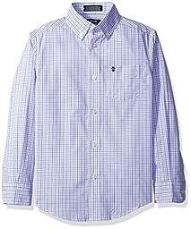 Izod Kids Big Boys\' Long Sleeve Woven Shirt, Purple, XLRG