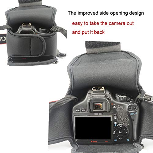 First2savvv Neoprene Camera Case Bag for Canon EOS Rebel T7i T6i T6 Kiss  X9i X9 EOS 800D 200D 77D 760D 750D 1300D 9000D 600D EOS Rebel SL2 with