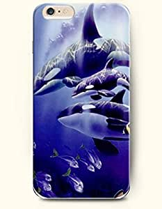 iPhone 6 Case,OOFIT iPhone 6 Plus (5.5) Hard Case **NEW** Case with the Design of Whales and Fish - ECO-Friendly Packaging - Case for Apple iPhone iPhone 6 Plus (5.5) (2014) Verizon, AT&T Sprint, T-mobile