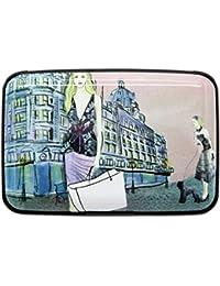 Aluminum RFID Blocking Wallet - Stylish Travel Wallet - 7 Slots Identity Safe Protection Card Holder - Business Card Case - 12 Patterns