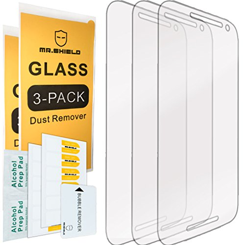 Mr.Shield [3-Pack] for Motorola Moto G 3rd Generation [Tempered Glass] Screen Protector with Lifetime Replacement