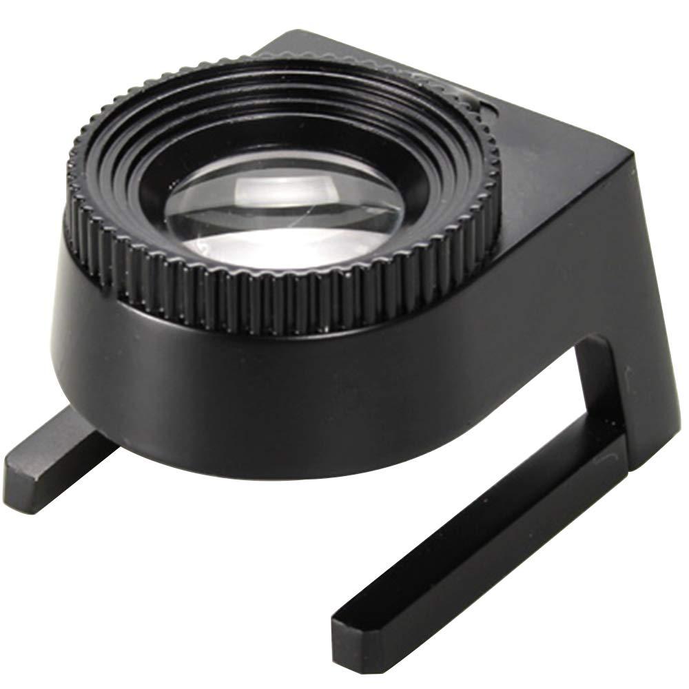 magnifier Lupa 10xled, con Escala ImpresióN InspeccióN IdentificacióN Metal Metal IdentificacióN Lupa Textil con LáMpara, Adecuada para Sala De Estar Oficina c80ffc