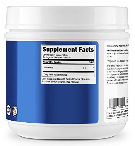 Nutricost L-Glutamine (500 Grams) (Fruit Punch) by Nutricost (Image #3)