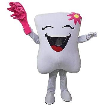 Dientes y cepillo de dientes Cartoon mascota disfraz Real imagen 15 – 20days entrega